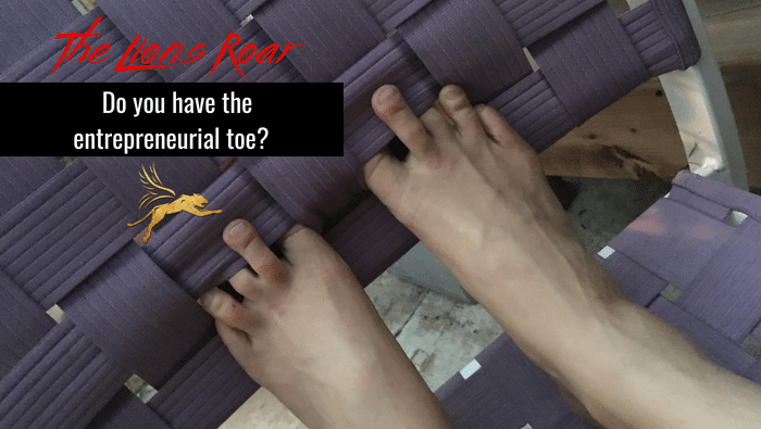 Do you have the entrepreneurial toe gene?