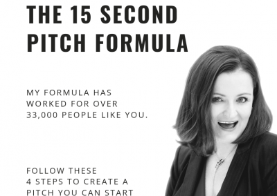 The 15-Second Pitch Formula