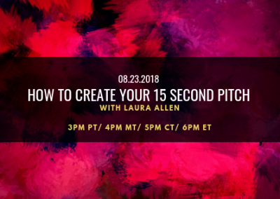How to create Your 15 Second Pitch