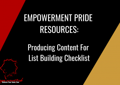 Producing Content For List Building Checklist