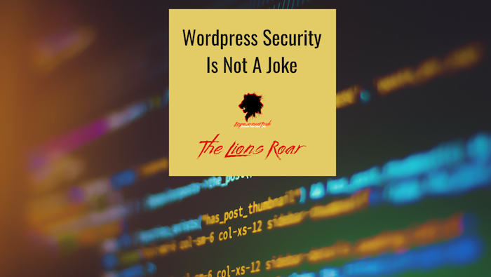 WordPress Security Is Not A Joke